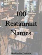 100 Restaurant Names