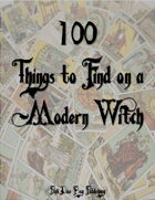 100 Things to Find on a Modern Witch