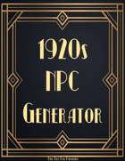 1920s NPC Generator