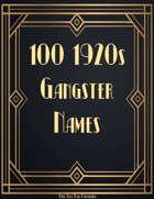 100 1920s Gangster Names