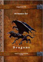 Gregorius21778: 99 Names for Dragons