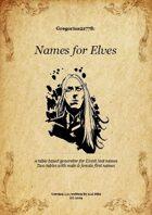 Gregorius21778: Names for Elves