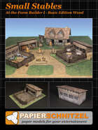 Small Stables At-The-Farm II BASIC EDITION WOOD