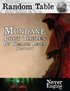 Mundane Loot Tables By Wealth Level (Fantasy)