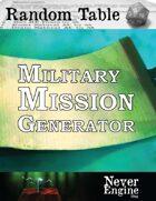 Military Mission Generator