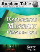 Espionage Mission Generator