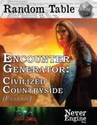 Encounter Generator - Civilized Countryside (Fantasy)