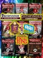 Aquilae: Bestiary of the Realm: Multisystem Digital Bookshelf (Pathfinder, 5E, P2E, OSR, DCC)