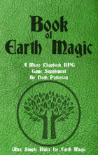 Book of Earth Magic: A Micro Chapbook RPG Supplement