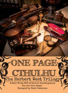 One Page Cthulhu: The Herbert West Trilogy