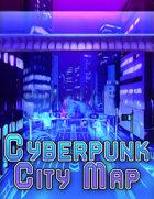 Cyberpunk City Battlemap