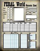 FERAL World Character Sheet