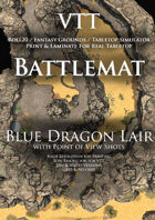 VTT Battlemap - Blue Dragon Lair