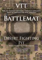 VTT Battlemap - Desert Fighting Pit