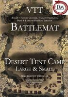 VTT Battlemap - Desert Tent Camp