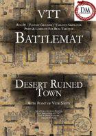 VTT Battlemap - Desert Ruined Town