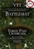 VTT Battlemap - Forest Path Crossroads