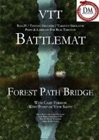VTT Battlemap - Forest Path Bridge