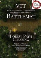 VTT Battlemap - Forest Path Clearing