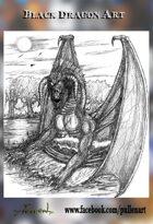 Black Dragon Stock Art