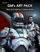 GMART001 Male Sci-Fi Warrior in Heavy Armor