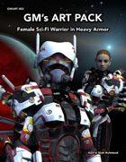 GMART002 Female Sci-Fi Warrior in Heavy Armor