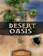Desert Oasis - Printable & VTT Battlemap