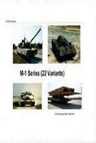 M-1 Abrams Series (22 variants) (For Armor Heavy Team / Tacforce II