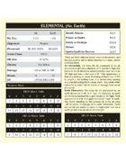 """B/X Old School Essentials Labyrinth Lord Bestiary 6"""" x 6"""" cards (A-J)"""