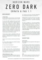 Horizon Wars: Zero Dark - FAQ & Errata v1.1
