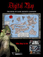 """DIGITAL POSTER MAP - THE BOOK OF DARK SECRETS - 18"""" x 12"""" in 4 Parts"""