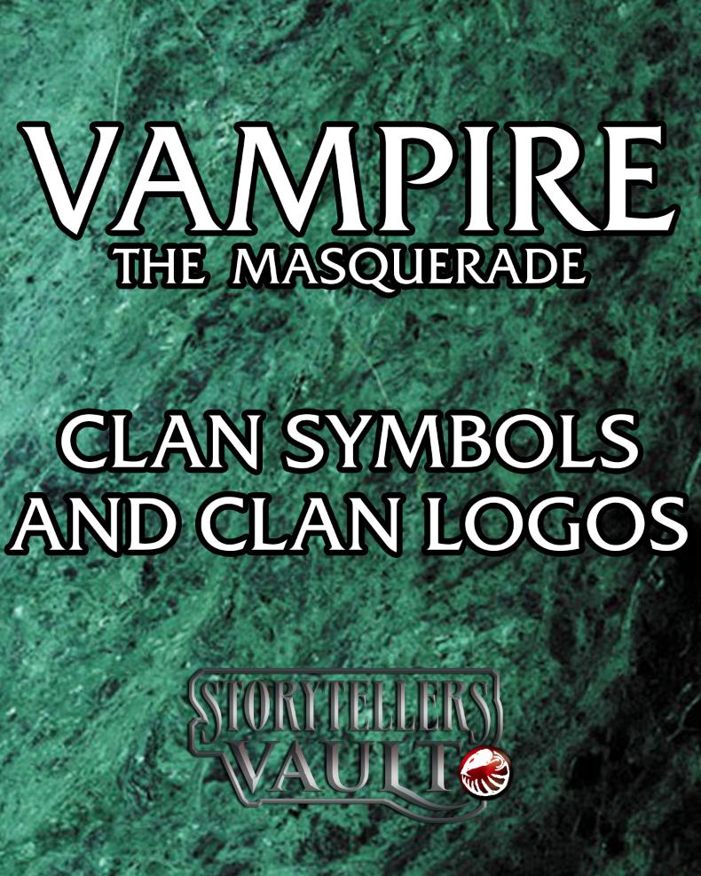 Vampire the Masquerade Clan Symbols and Clan Logos