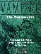 MrGone's Vampire the Masquerade Second Edition 1-Page Character Sheets