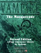 MrGone's Vampire the Masquerade Second Edition 4-Page Character Sheets