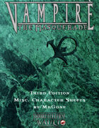 MrGone\'s Vampire the Masquerade Third Edition Misc Character Sheets