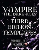 Vampire: The Dark Ages Third Edition Templates