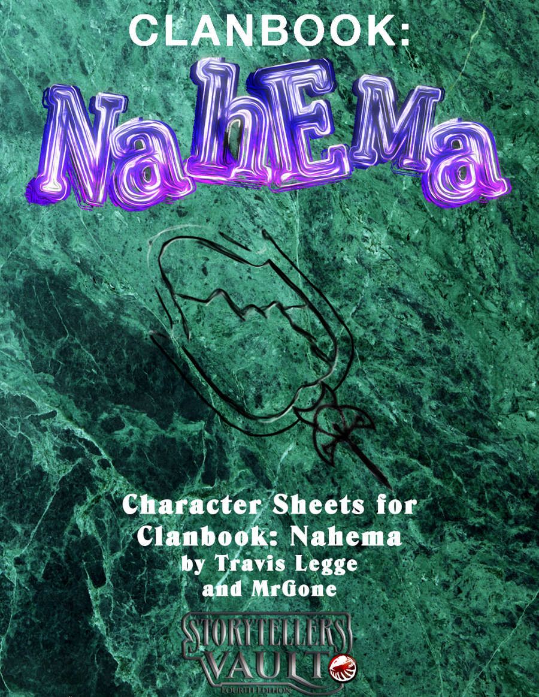 Mrgones Clanbook Nahema Character Sheets White Wolf Dungeon