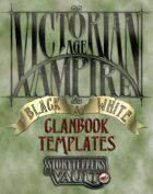 Victorian Age Vampire B&W Clanbook Templates