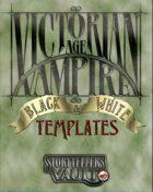 Victorian Age Vampire B&W Templates