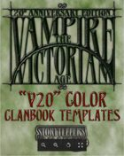 Vampire: The Victorian Age Color Clanbook Templates (InDesign)
