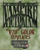 Vampire: The Victorian Age Templates (Word)