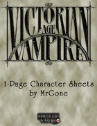 MrGone's Victorian Age Vampire 1-Page Character Sheets