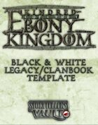 Kindred of the Ebony Kingdom Black & White Legacybook Templates (Word)