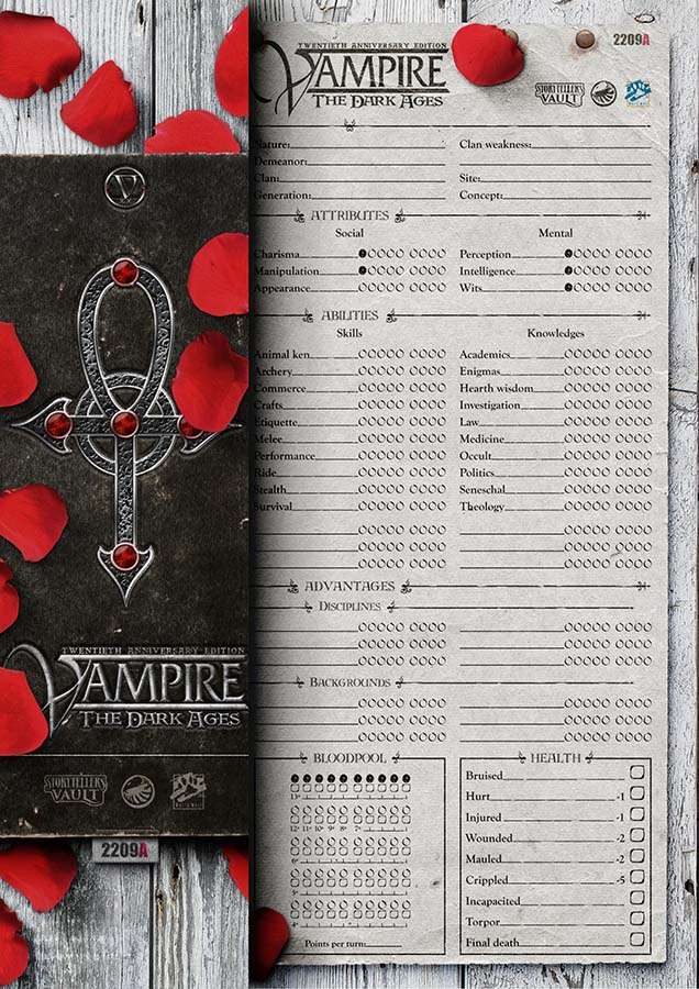 Vampire The Dark Ages Character Sheets V20 White Wolf