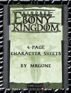 MrGone's Kindred of the Ebony Kingdom 4-Page Character Sheets