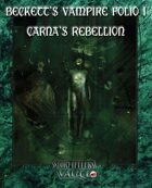 Beckett's Vampire Folio 1:  Carna's ReBellion