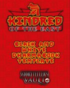 Kindred of the East Dharmabook Black & White Templates