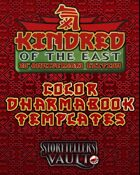 Kindred of the East Dharmabook Color Template (InDesign)