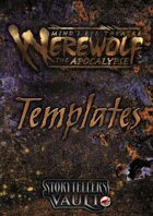 Minds Eye Theatre: Werewolf The Apocalypse Templates (Word)