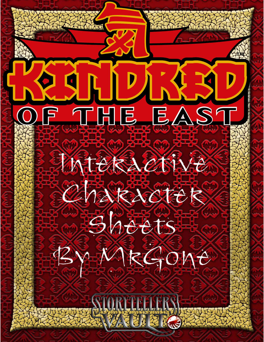 Mrgones Kindred Of The East Interactive Character Sheets White